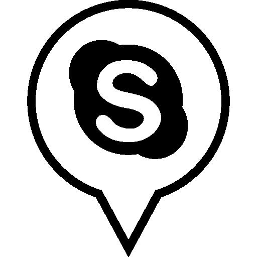 Skype Icon Black