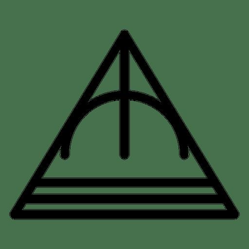 Stroke Triangle Logo Geometric Polygonal