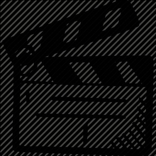 Film, Film Slate, Production Icon