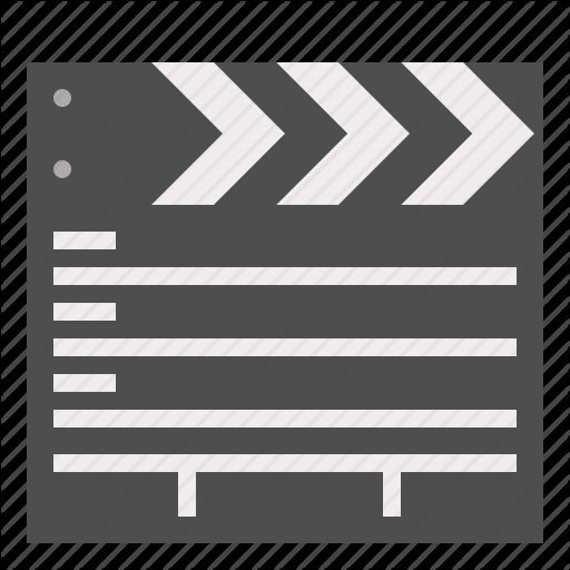 Cinema, Clapper, Movie, Slate Icon