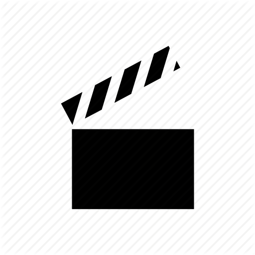 Clapboard, Film Slate, Graphic, Motion, Movie, Video Icon