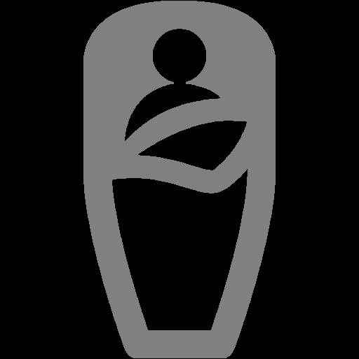 Gray Sleeping Bag Icon