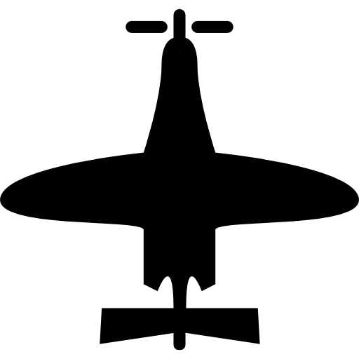 Airplane Of Small Size Top View Icons Free Download