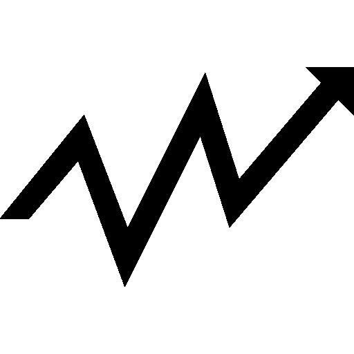 Small Zigzag Arrow Upward