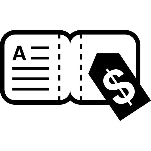 Small Book With Dollar Price Icons Free Download