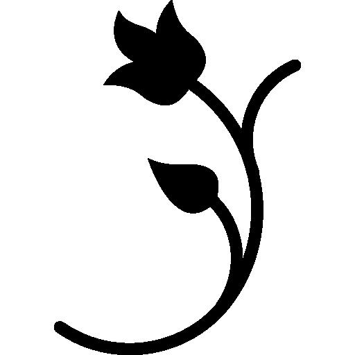 Floral Design Silhouette