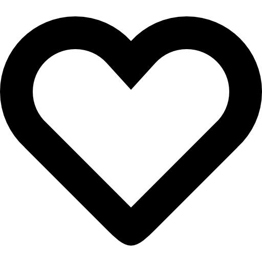 Heart Shape Thick Outline Icons Free Download