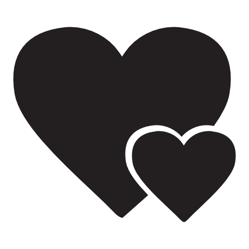 Big Heart And Little Heart Free Vector Icons Designed