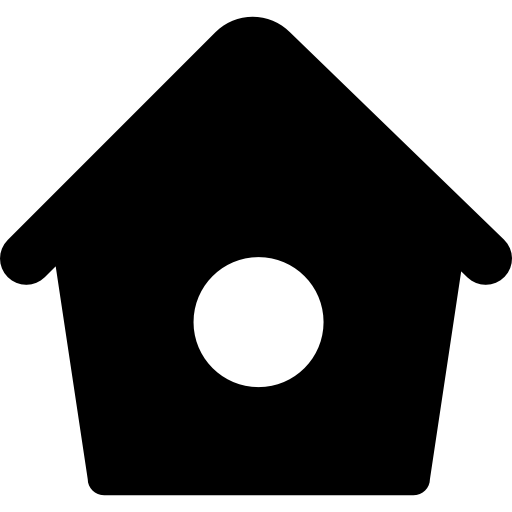 Bird Home With Small Hole Icons Free Download