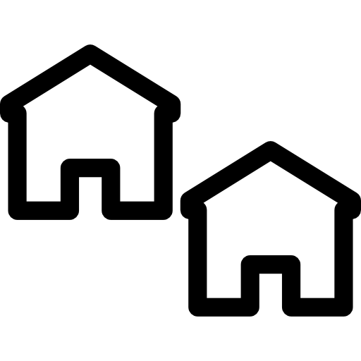 Two Small Houses Icons Free Download
