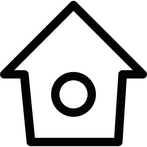 Bird House With Small Round Hole Icons Free Download