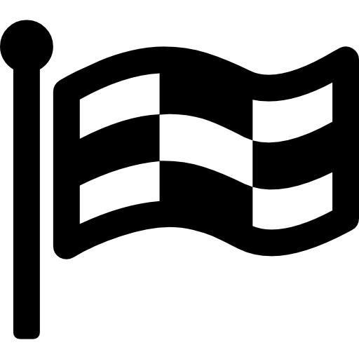 Checkered Raised Flag