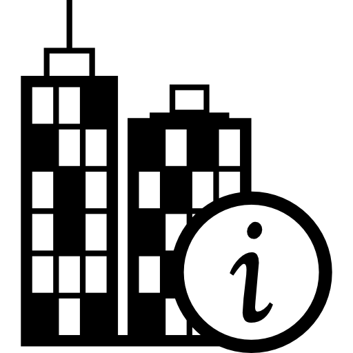 City Information Button For Interface Icons Free Download