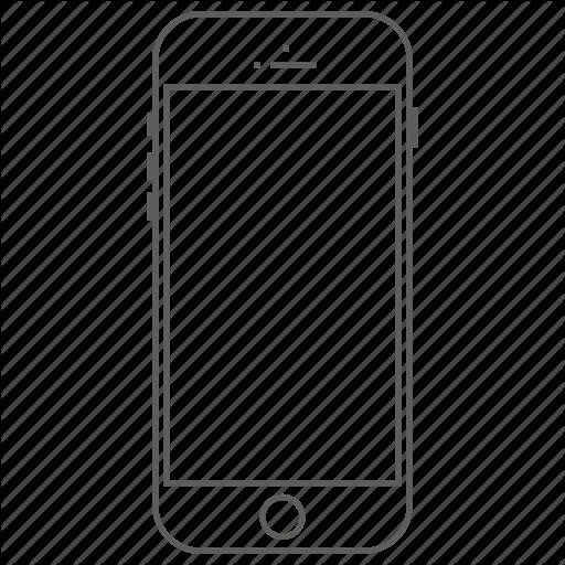 Outline Vector Smartphone Transparent Png Clipart Free Download