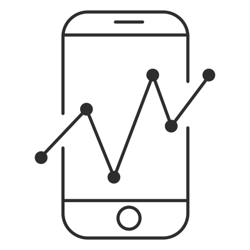 Smartphone With Graph Icon