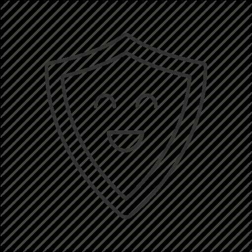 Emoji, Emoticon, Laugh, Protection, Safety, Shield, Smile Icon