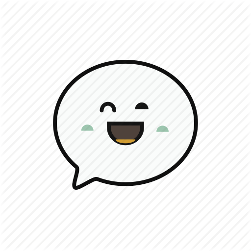 Chat, Lovely, Massage, Round, Smile Icon
