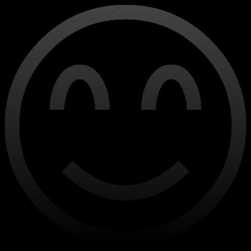 Simple Black Gradient Classic Emoticons Smiling Face