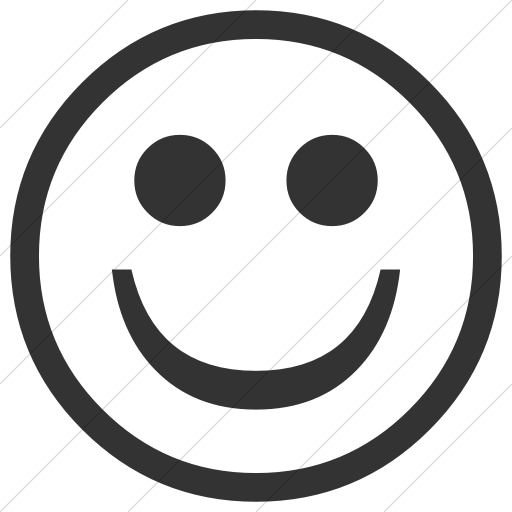 Simple Dark Gray Classic Emoticons Smiling Face Icon