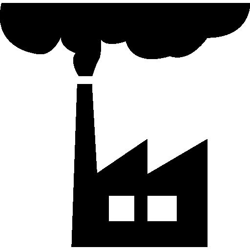 Smog Factory Building Contamination Icons Free Download