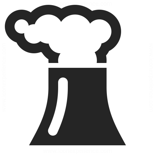 Cooling Tower Smoke Icon Iconexperience