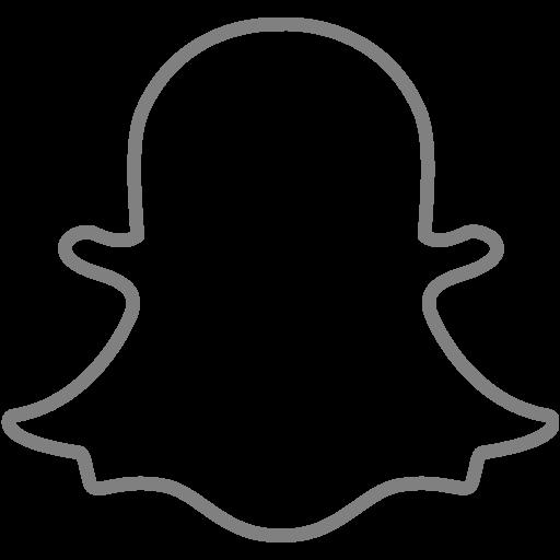 Gray Snapchat Icon