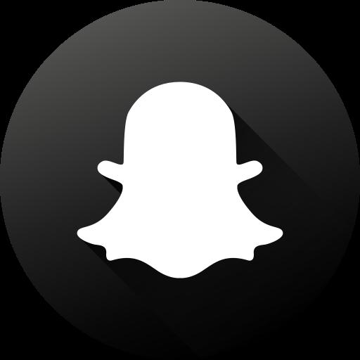 Black White, Circle, High Quality, Long Shadow, Snapchat, Social