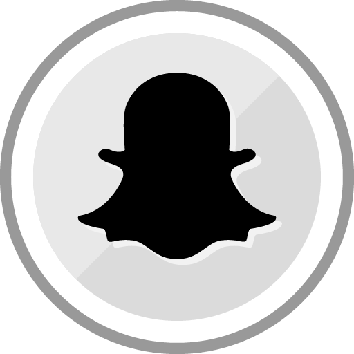 Free Snapchat Sleek Silver Round Social Media Icon