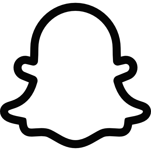 Snapchat Ghost Logo Black And White Transparent Png