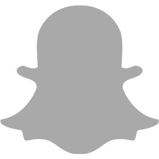 Dark Gray Snapchat Icon