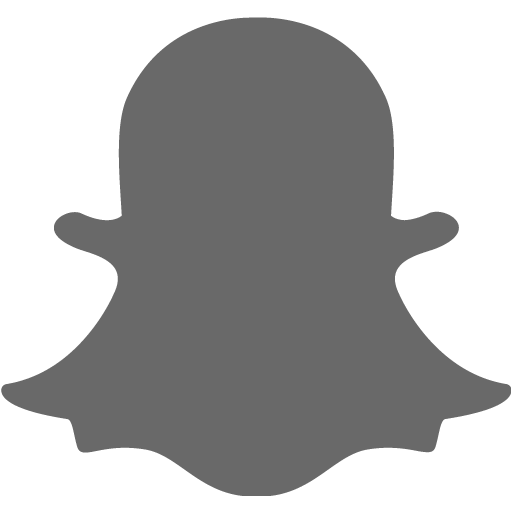 Dim Gray Snapchat Icon
