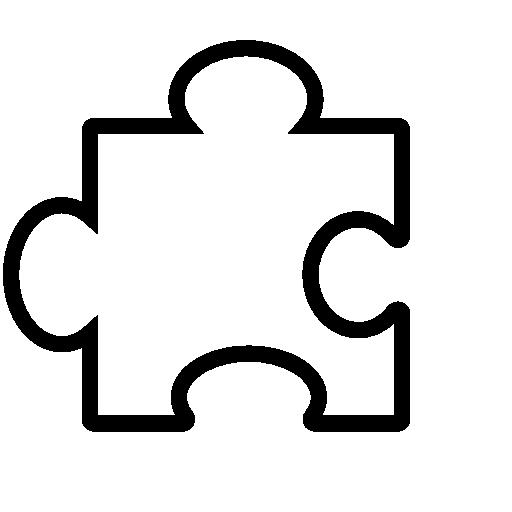 White Puzzle Icon
