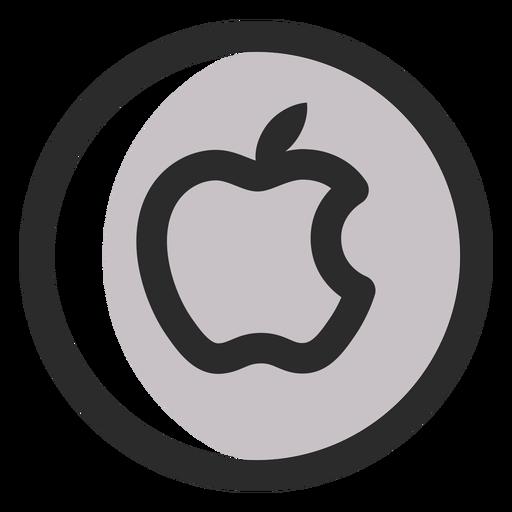 Apple Colored Stroke Icon