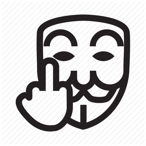 Anonymous, Emoticon, Hacker, Mask, Middle Finger Icon Icon