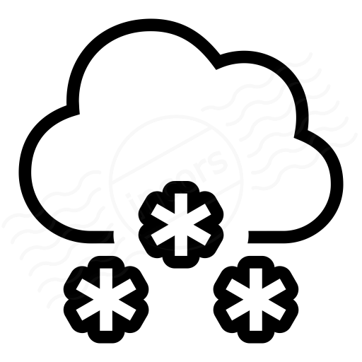 Iconexperience I Collection Cloud Snow Icon