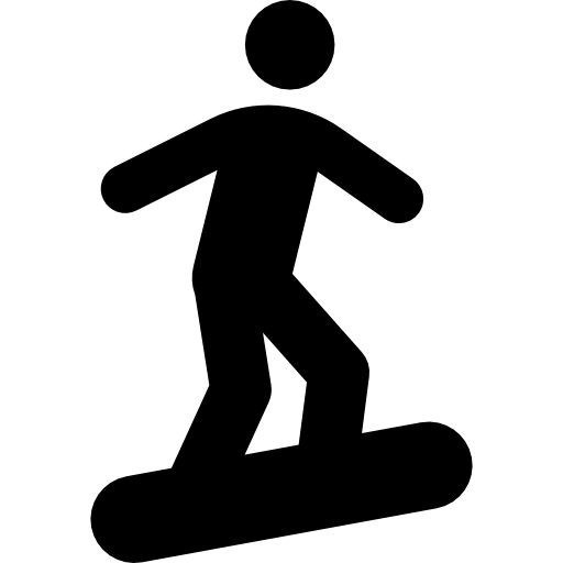 Stick Figure On Snowboard Icons Free Download