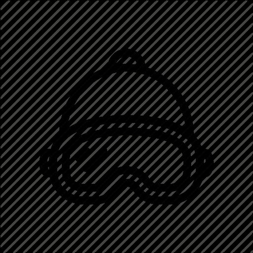Beanie, Glasses, Goggles, Skiier, Skiing, Snowboard, Snowboarding Icon