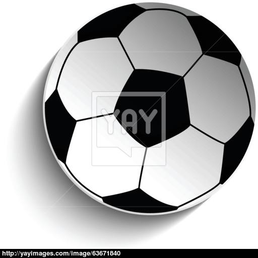 Soccer Football Ball Icon With Shadow Vector