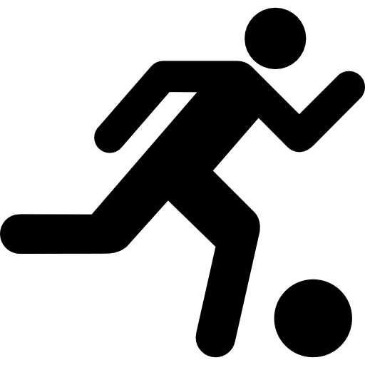 Soccer Player Running With The Ball Icons Free Download