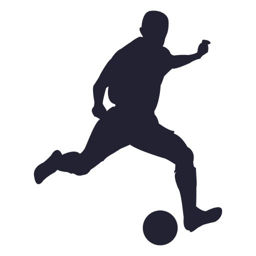 Soccer Player Silhouette Figure