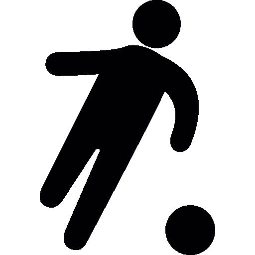 Football Player Black Shape, Ios Interface Symbol Icons Free