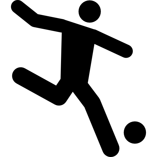 Football Player Running Behind The Ball Icons Free Download