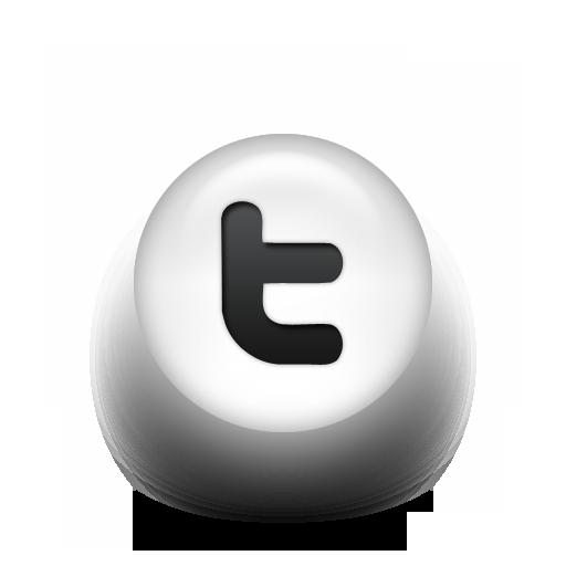 Black White Pearl Icon Social Media Logos Twitter