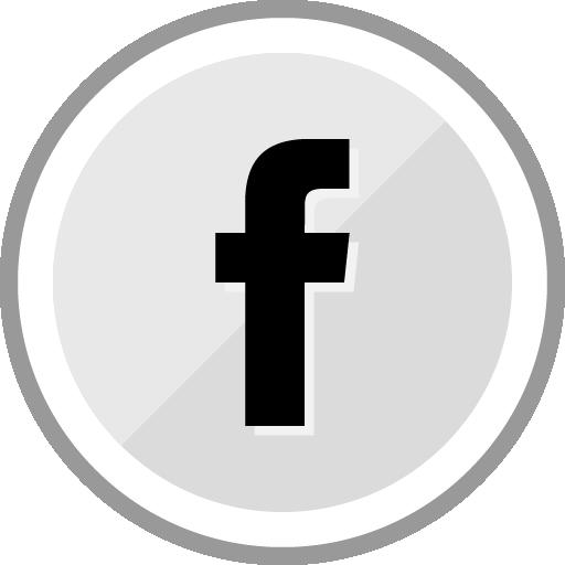 Free Facebook Sleek Silver Round Social Media Icon