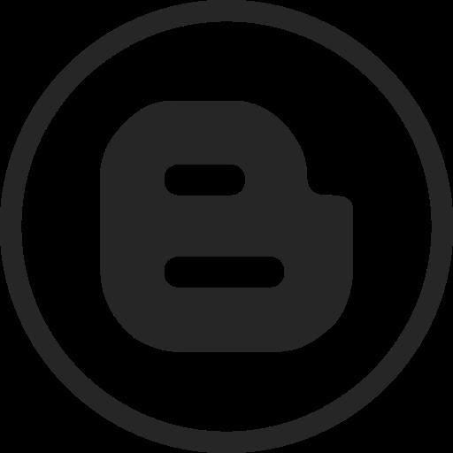 Blogger, Blogspot, Circle, High Quality, Media, Social, Social