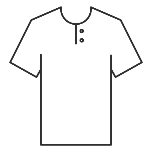 Henley T Shirt Stroke Icon