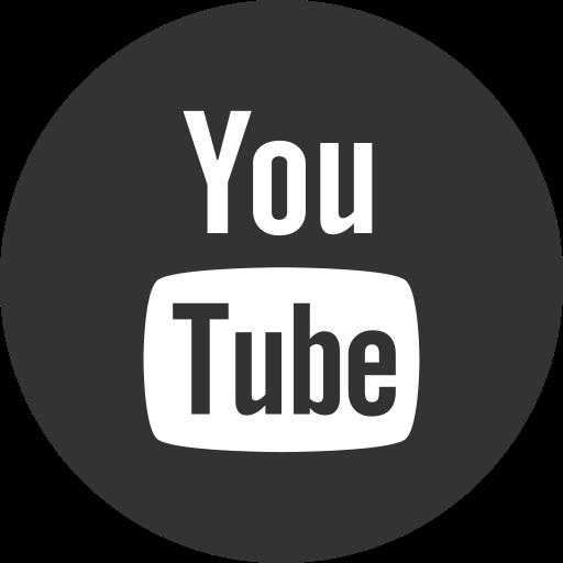 Social Media Youtube Darkslategray Icon