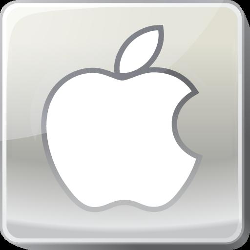 Apple, Logo, Silver, Social Media Icon