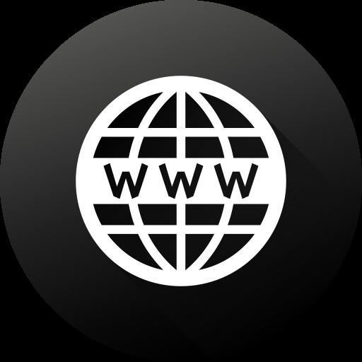 Black White, Circle, Gradient, High Quality, Long Shadow, Website