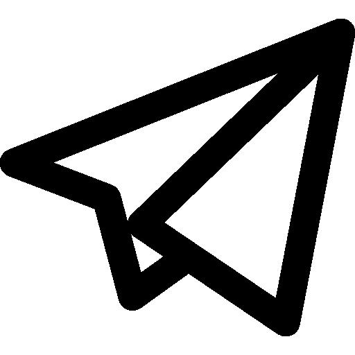 Telegram Black And White Logo Png Images